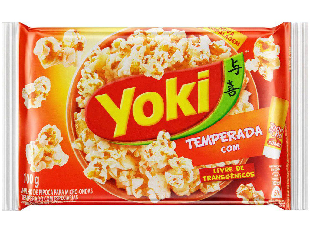 Yoki Pop Corn Temperada Toque do Chef 100g