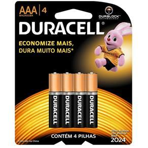 Duracell Pilha AAA Palito c/4