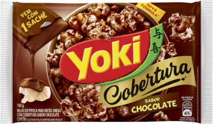 Yoki Pop Corn Cobertura Chocolate 160g