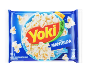 Yoki Pop Corn Sabor Manteiga 100g
