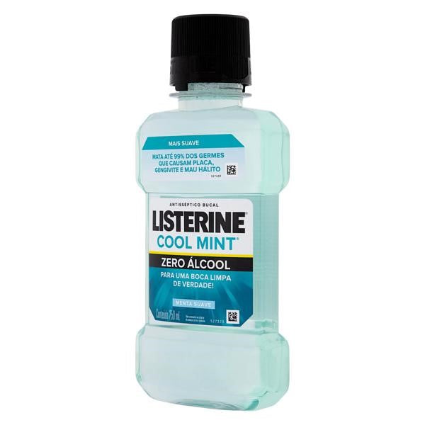 Listerine Cool Mint Zero Menta Suave 250ml
