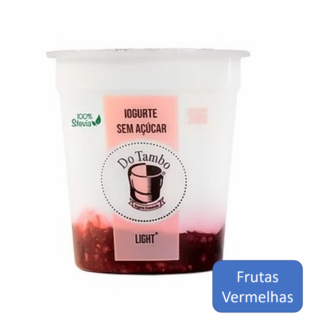 Do Tambo Iogurte Light Frutas Vermelhas 200g
