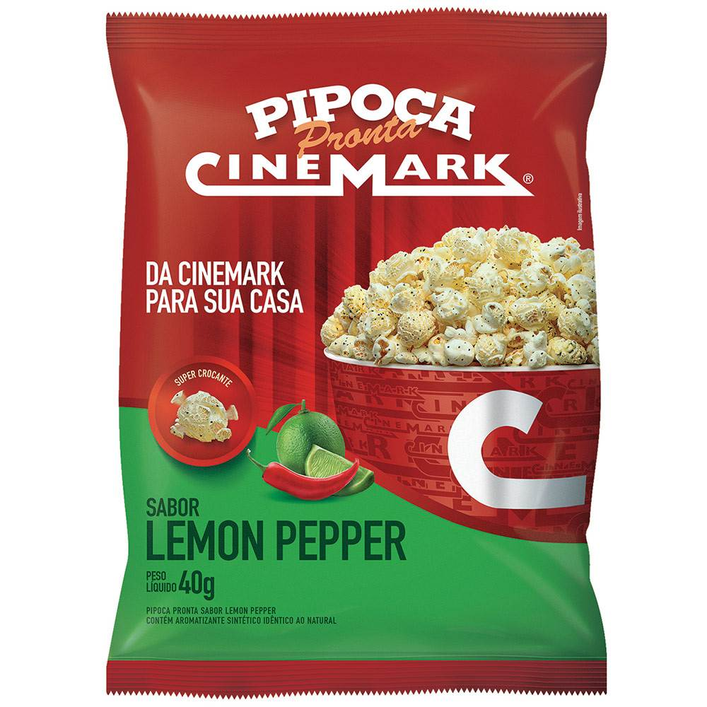 Pipoca Pronta Cinemark Lemon Pepper 40g
