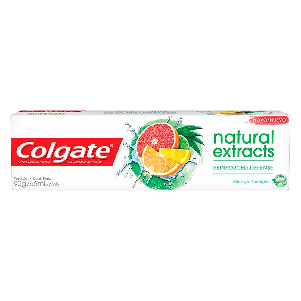 Colgate Creme Dental Natural Extracts Reinforced Defence Citrus e Eucalipto 90g