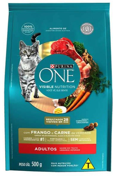 Purina One Adultos Frango e Carne 500g