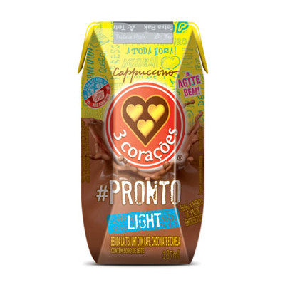 3 Corações Cappucino #Pronto Light 187mL