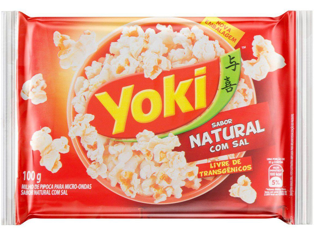 Yoki Pop Corn Natural com Sal 100g