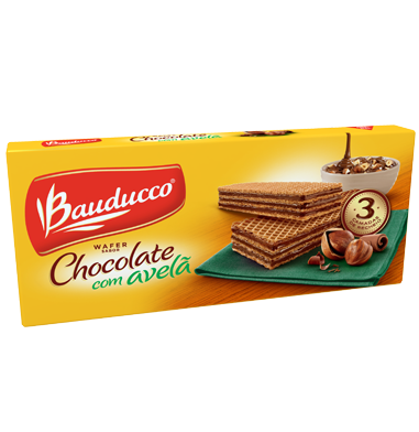Bauducco Wafer Chocolate com Avelã 140g