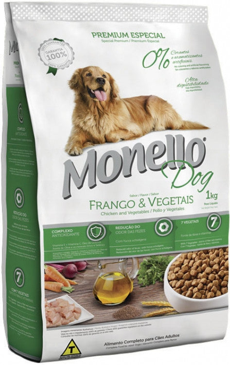 Monello Dog Frango e Vegetais 1kg