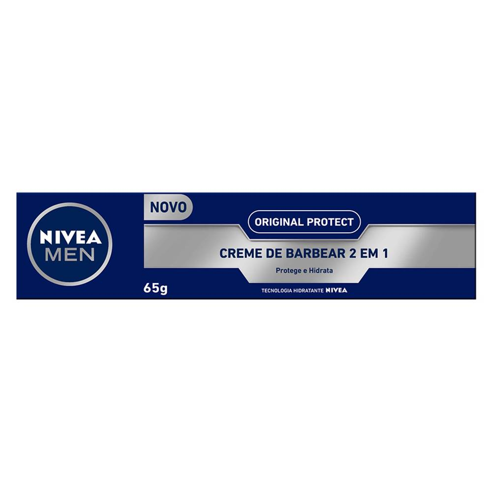 Nivea Men Creme de Barbear 2 em 1 Original Protect 65g