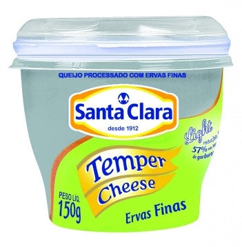Santa Clara Temper Cheese Light Ervas Finas 150g
