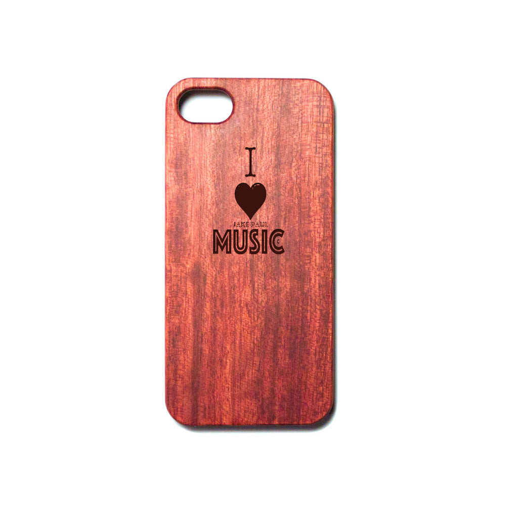 Engraved I Love Jake Paul Music Wood Phone Case