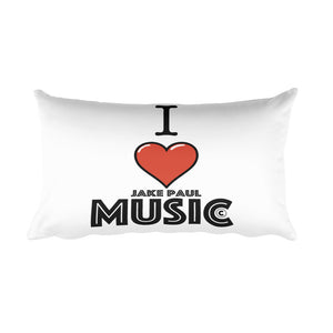 I Love Jake Paul Music Rectangular Pillow