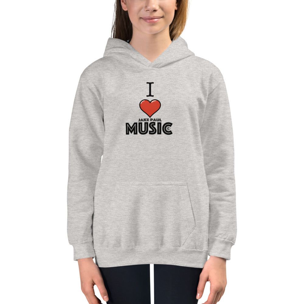 I LOVE Jake Paul Music - Kids Hoodie