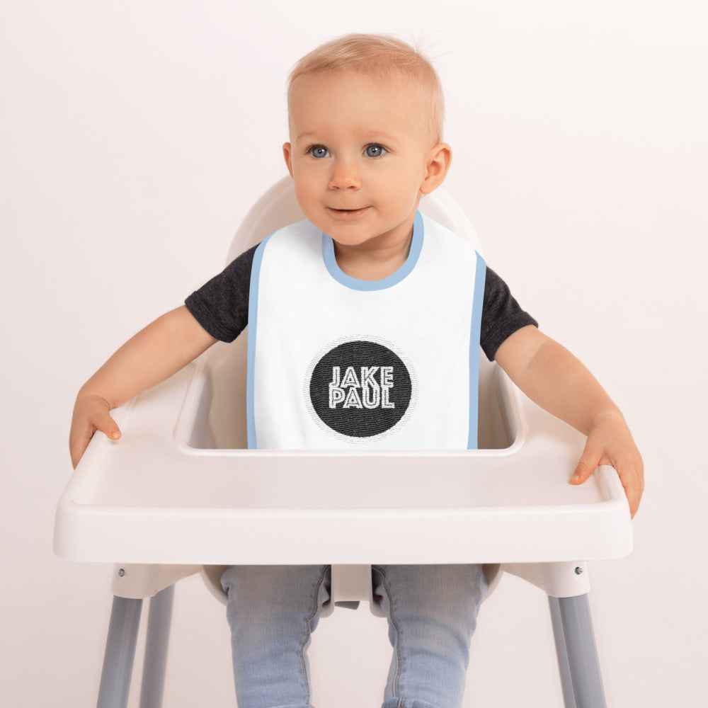 Jake Paul Embroidered Baby Bib