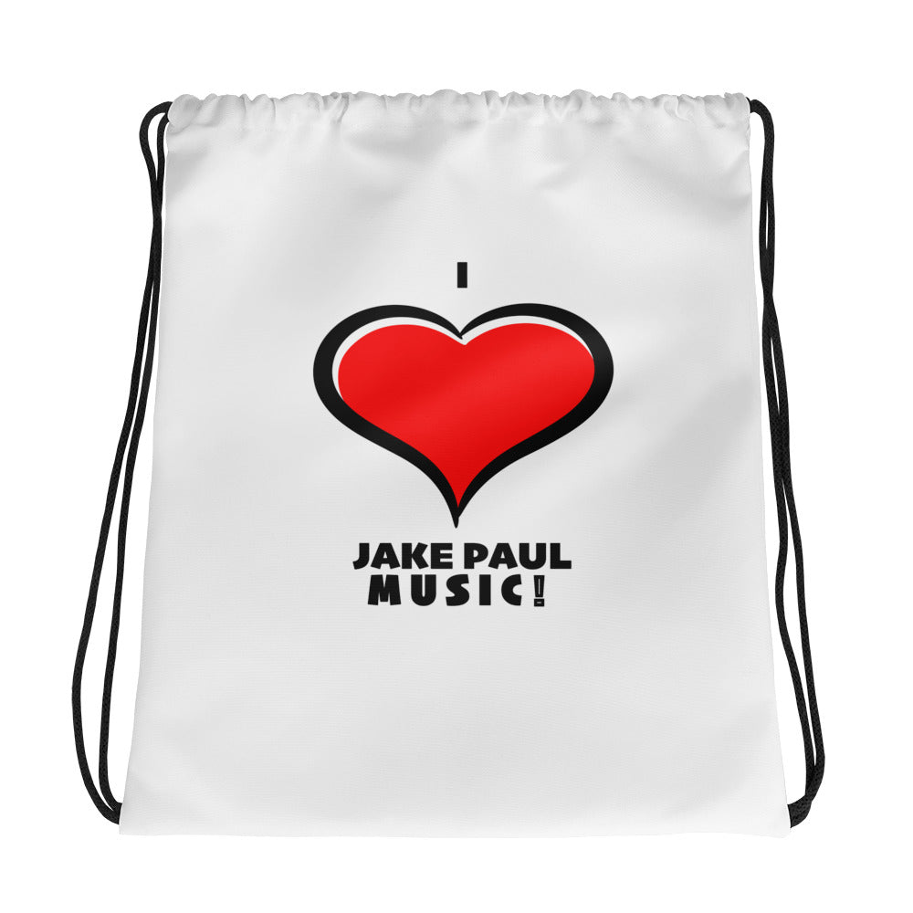 I Love Jake Paul Music Drawstring bag