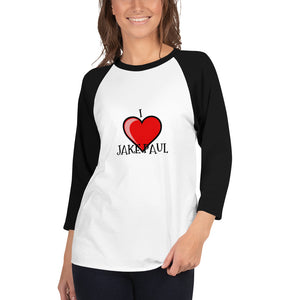 I LOVE JAKE PAUL - 3/4 sleeve raglan shirt