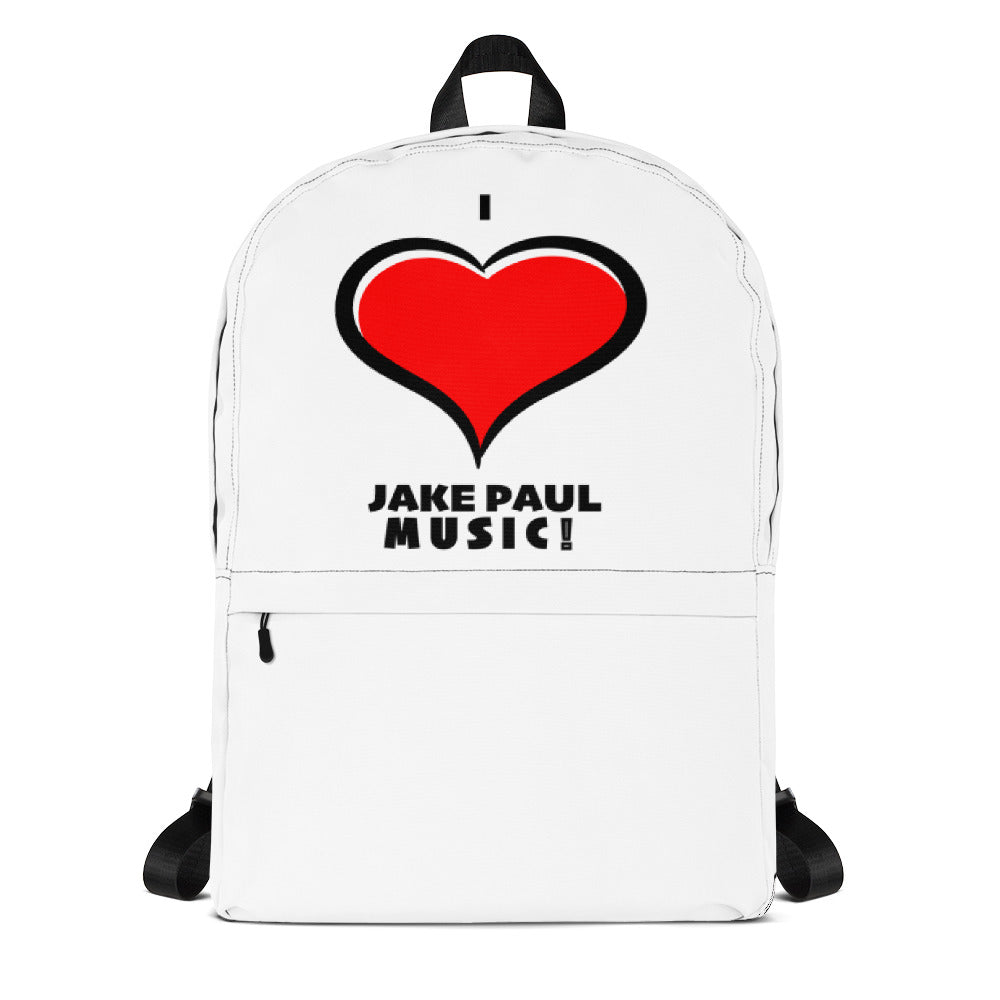 I LOVE JAKE PAUL MUSIC Backpack with your name inside!