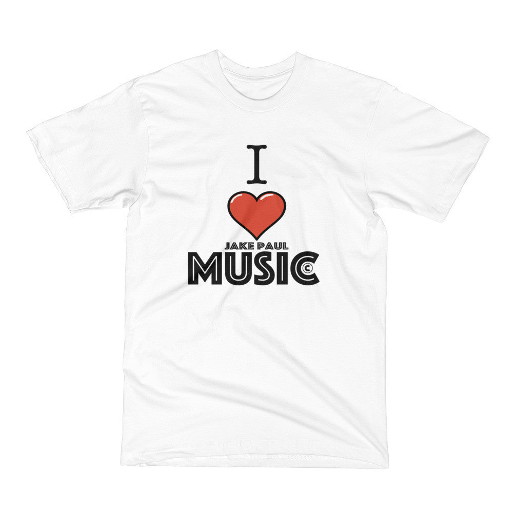 I LOVE JAKE PAUL MUSIC - Men's Short Sleeve T-Shirt