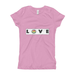 "Jake Paul Girl's (youth) T-Shirt by Jake Paul ""Love"" Designed by Jake Paul"