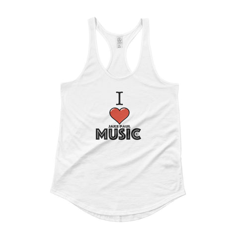 I Love Jake Paul Music Ladies' Shirttail Tank