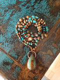 Electroformed Turquoise & Picture Jasper Necklace