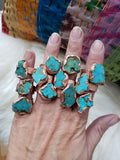 Raw Turquoise Electroformed Ring