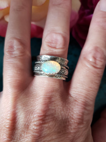 Size 7.5 Opal Meditation Ring