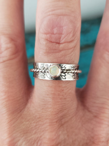Size 5.5 - Dainty Opal Meditation Ring