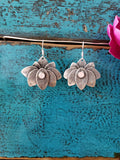 Rose Quartz Lotus Earrings
