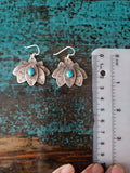 Sleeping Beauty Turquoise Lotus Earrings