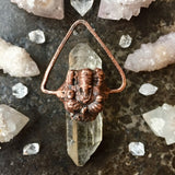 RESERVED for Jutta - Double Terminated Quartz Ganesha Pendant