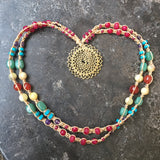 Mandala Ohm Rainbow Chakra Necklace