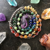 Amethyst Point Rainbow Necklace