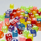 Alphabet/Letter Beads - Colorful Letter Beads - 300 Mixed