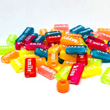 Alphabet/Number Beads - Rectangles With Words - 100 Mixed