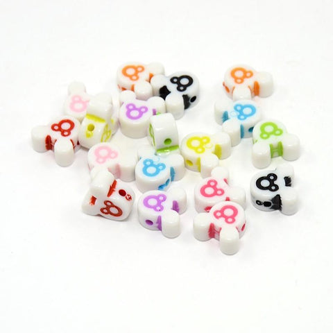 Charm/Pendant - Mouse Head Beads - 50 Pack