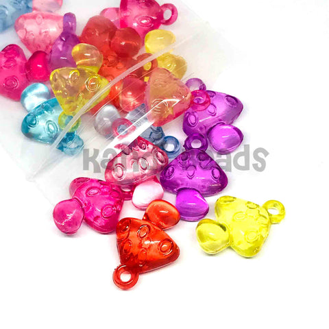 Charm/Pendant - Mushroom Transparent Pendant Beads - 20 Pieces