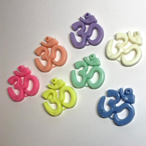 Charm/Pendant - Om Symbol Beads - 10 Pieces