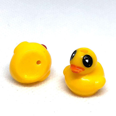 Charm/Pendant - Rubber Duck Beads Opaque - 10 Pack