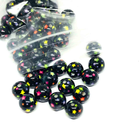 Charm/Pendant - Star Gumball Beads - 25 Pieces