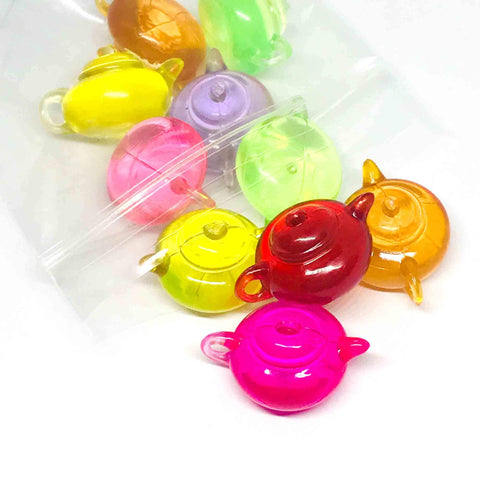 Charm/Pendant - Teapot Beads- 10 Pieces