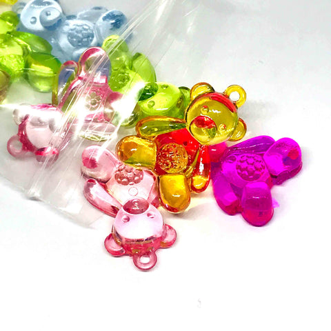 Charm/Pendant - Teddy Bear Pendant Charm Beads - 10 Assorted