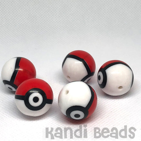 Craft Beads - Big Monster Balls - 5 Pieces