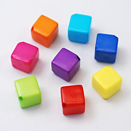 Craft Beads - Opaque Cube Beads - 50 Pack
