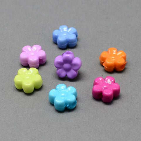 Craft Beads - Opaque Mini Flower Beads - 200 Pack