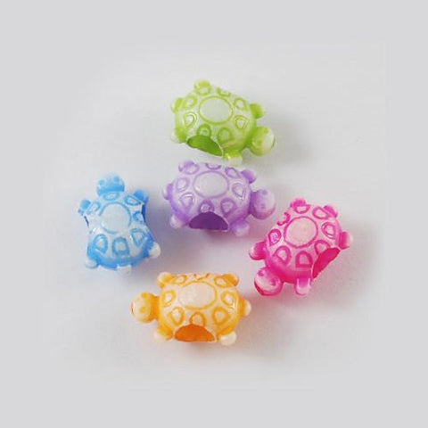 Craft Beads - Opaque Mini Turtle Beads -200 Pack