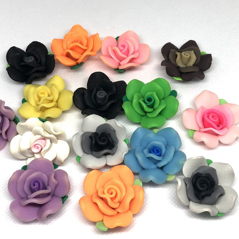 Flowers - Flower Beads - 6 Pieces