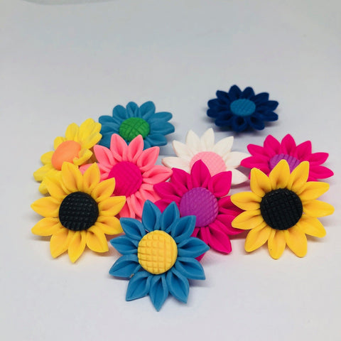 Flowers - Mixed Electric Daisy Beads - 15 Pieces