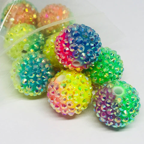 Jumbo Beads - Big Sparkle Party Disco Beads - 10 Pieces